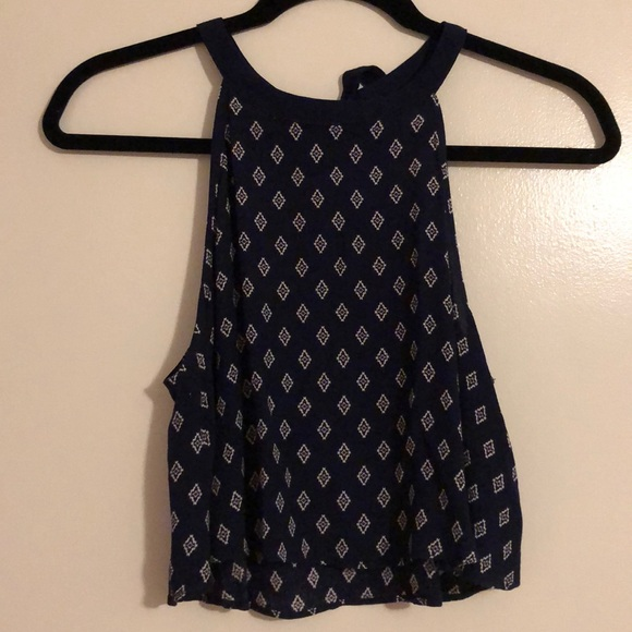 Forever 21 Tops - Navy blue crop tank/blouse